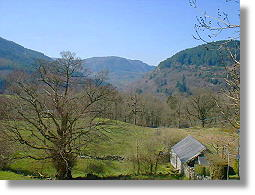 view from nr holiday cottage at betsy-coed